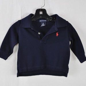 RALPH LAUREN  Polo Shirt Navy Blue 3-6 Mos